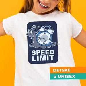 Tričko s potlačou Speed limit