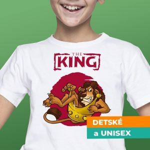 Tričko s potlačou The King