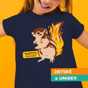 Tričko s potlačou Veverička
