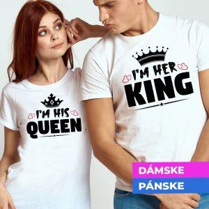 Tričko s potlačou His Queen