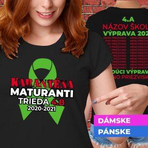 Tričko s potlačou Maturanti v karanténe