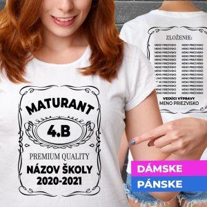 Tričko s potlačou Maturant