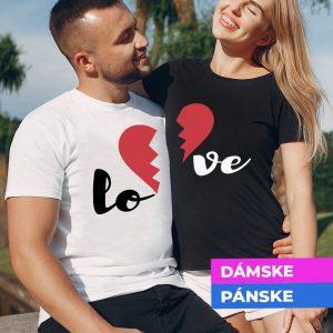 Tričko s potlačou Love
