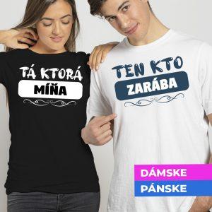 Tričko s potlačou Ten kto zarába