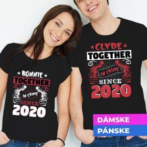 Tričko s potlačou Bonnie and Clyde