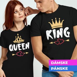 Tričko s potlačou Queen and King