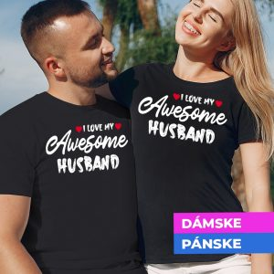Tričko s potlačou Awesome husband