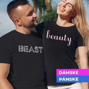 Tričko s potlačou Beast and beauty