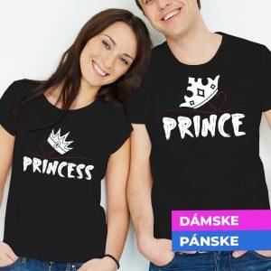 Tričko s potlačou Princess and Prince