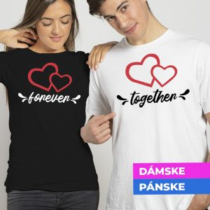 Tričko s potlačou Forever together