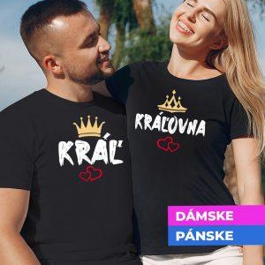 Tričko s potlačou Kráľ a kráľovná