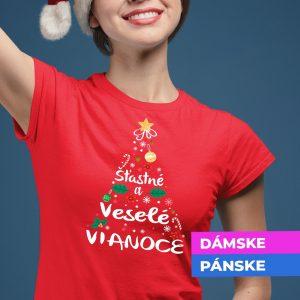 Vianočné tričko stromček