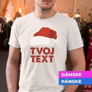 Vianočné tričko Čiapka s vlastným textom