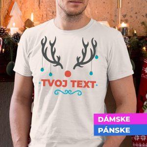 Vianočné tričko Parožie