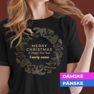 Vianočné tričko s vaším priezviskom