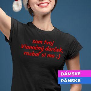 Tričko s vtipným vianočným textom