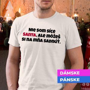 Tričko s potlačou SANTA