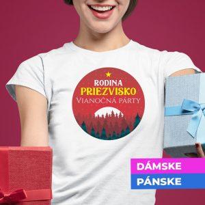 Vianočné tričko Rodinná párty