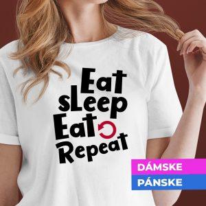 Vianočné tričko Eat, sleep, repeat