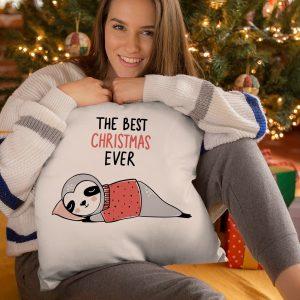 Vankúš v tvare štvorca The best Christmas