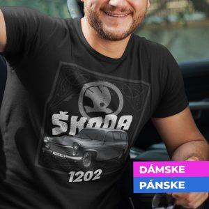 Tričko s potlačou ŠKODA 1202