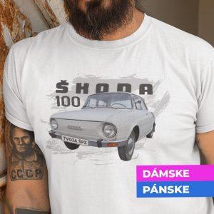Tričko s potlačou ŠKODA 100