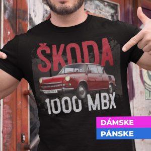 Tričko s potlačou ŠKODA 1000 MBX