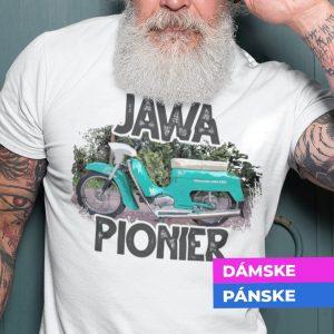 Tričko s potlačou JAWA Pionier