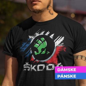 Tričko s potlačou ŠKODA
