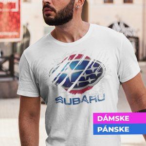 Tričko s potlačou SUBARU