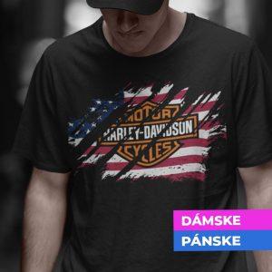 Tričko s potlačou HARLEY DAVISDON