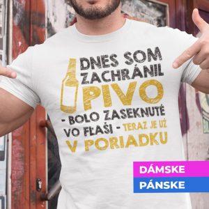 Tričko s potlačou ZÁCHRANCA PIVA
