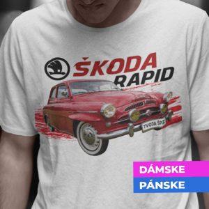 Tričko s potlačou ŠKODA RAPID