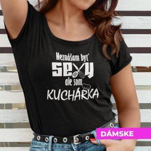 Tričko s potlačou SEXY KUCHÁRKA