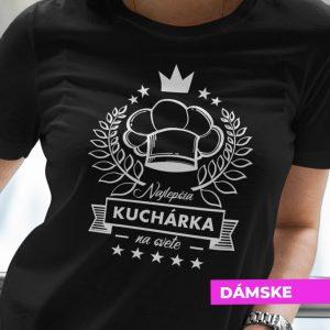 Tričko s potlačou NAJLEPŠIA KUCHÁRKA