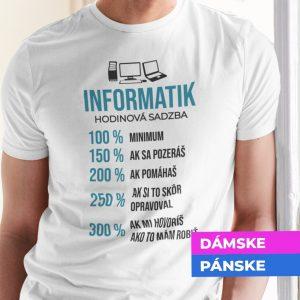 Tričko s potlačou INFORMATIK