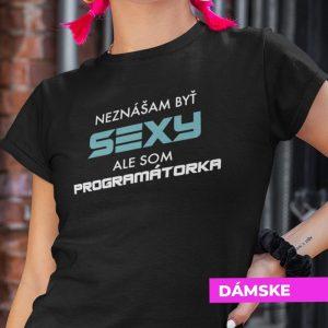 Tričko s potlačou SEXY PROGRAMÁTORKA