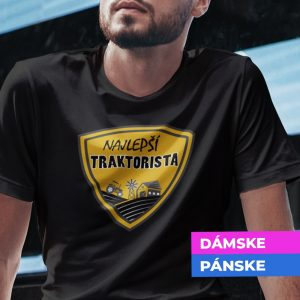 Tričko s potlačou NAJLEPŠÍ TRAKTORISTA