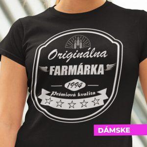 Tričko s potlačou ORIGINÁLNA FARMÁRKA
