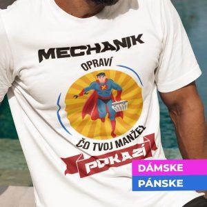 Tričko s potlačou MECHANIK OPRAVÍ