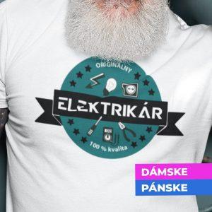 Tričko s potlačou ORIGINÁLNY ELEKTRIKÁR