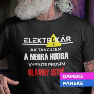 Tričko s potlačou ELEKTRIKÁR