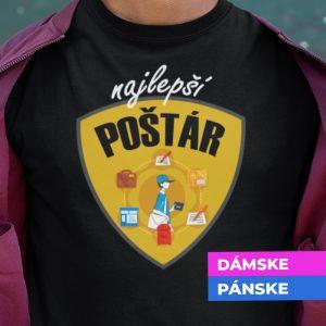 Tričko s potlačou NAJLEPŠÍ POŠTÁR