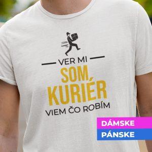 Tričko s potlačou SOM KURIÉR