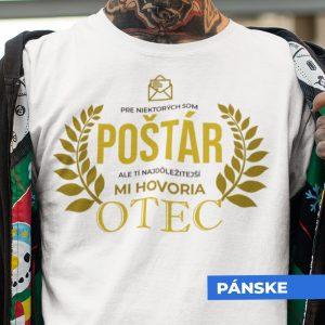 Tričko s potlačou OTEC POŠTÁR