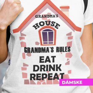 Tričko s potlačou GRANDMA´S HOUSE