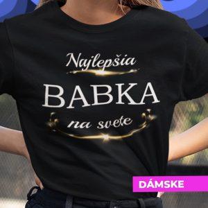 Tričko s potlačou BABKA
