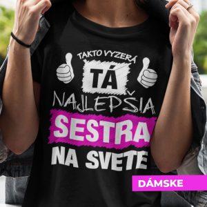Tričko s potlačou NAJLEPŠIA SESTRA