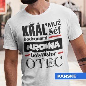 Tričko s potlačou OTEC HRDINA
