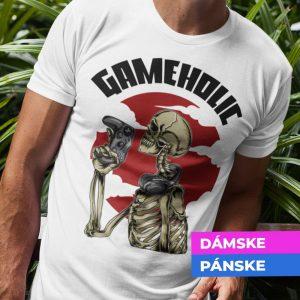 Tričko s potlačou Gameholic